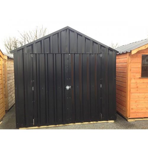 8ft x 8ft black steel garden shed garden sheds for sale for Used metal garden sheds for sale