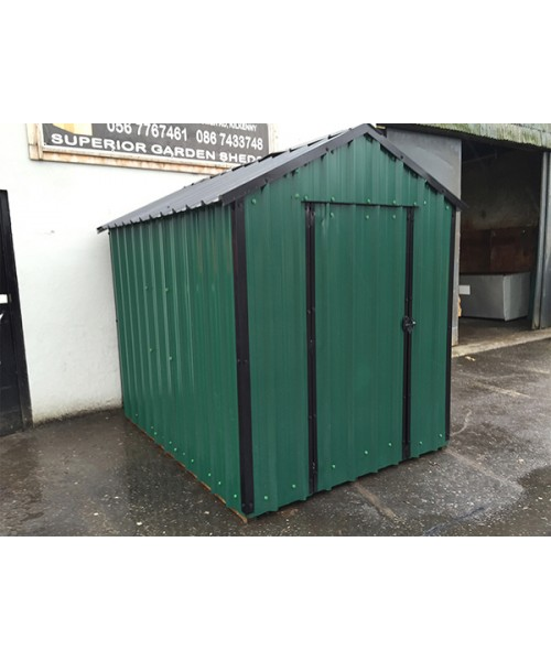 12ft x 6ft green steel garden shed garden sheds for sale for Steel sheds for sale