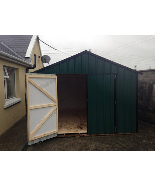 10ft x 12ft green steel garden shed garden sheds for sale for Patio sheds for sale