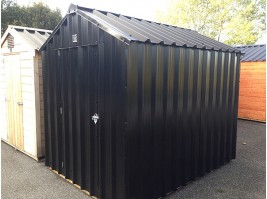12ft x 6ft Black Steel Garden Shed