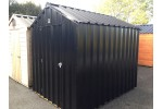 6ft x 6ft Black Steel Garden Shed
