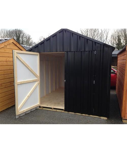 10ft x 20ft black steel garden shed garden sheds for sale for Metal sheds for sale