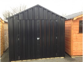 18ft x 8ft Black Steel Garden Shed