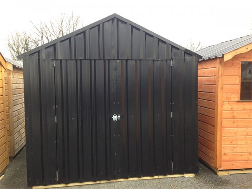 10ft x 14ft Black Steel Garden Shed