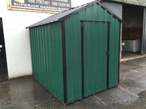 14ft x 6ft Green Steel Garden Shed