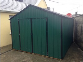 14ft x 8ft Green Steel Garden Shed