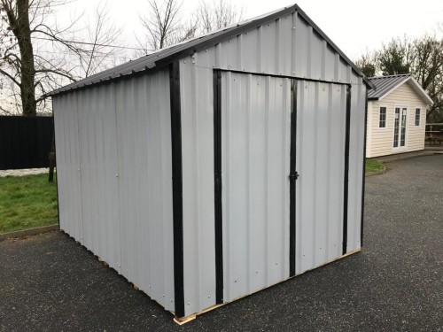 10ft x 20ft Grey Steel Garden Shed